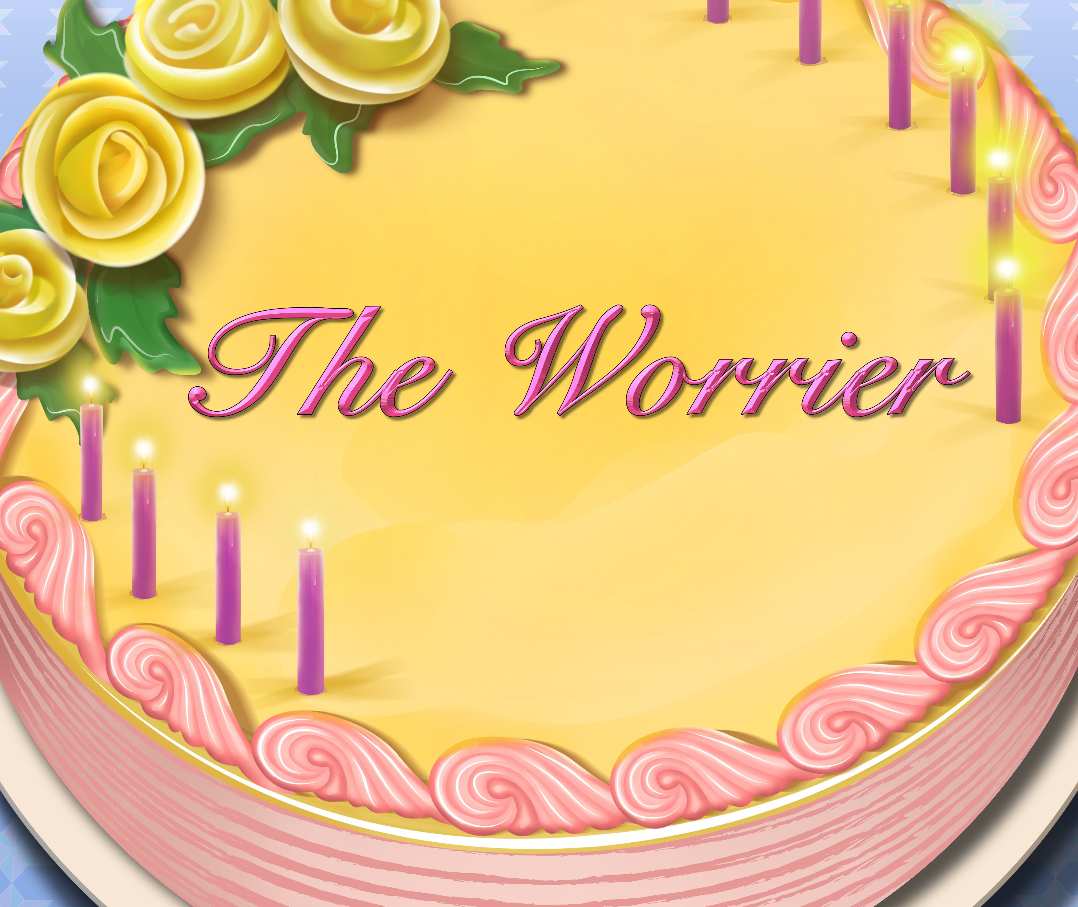 The Worrier Birthday Cake